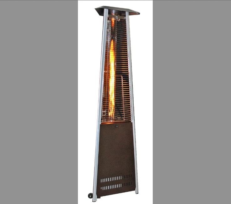 92u2033 Tall Sun Heat Triangular Patio Heater Golden Hammered (40,000 BTUu0027s)