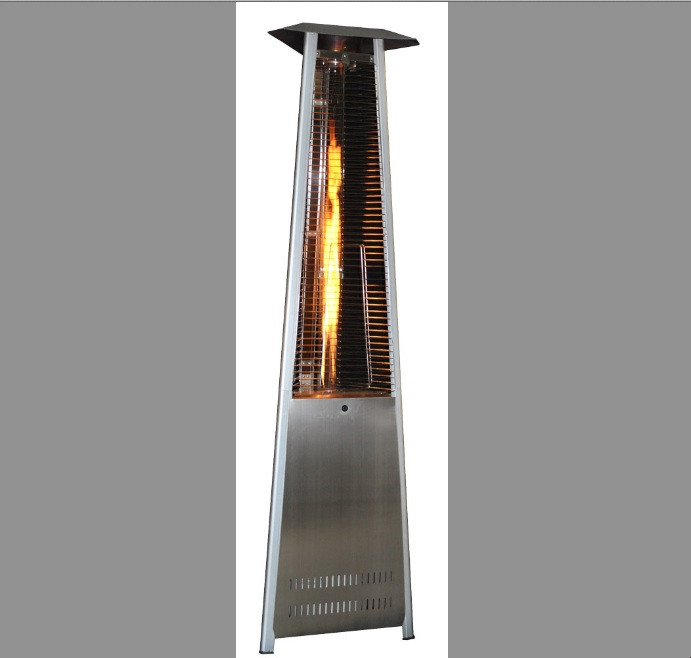 92 Quot Tall Sun Heat Triangular Patio Heater Stainless Steel